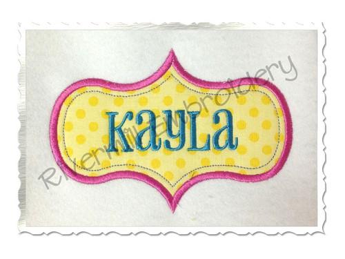 Applique Name or Monogram Frame Machine Embroidery Design (#1)