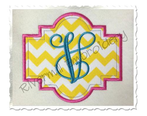 Applique Name or Monogram Frame Machine Embroidery Design (#3)