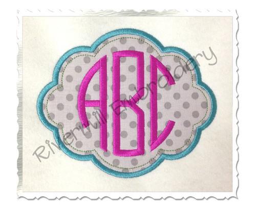 Applique Name or Monogram Frame Machine Embroidery Design (#4)