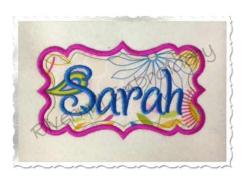 Applique Name or Monogram Frame Machine Embroidery Design (#8)