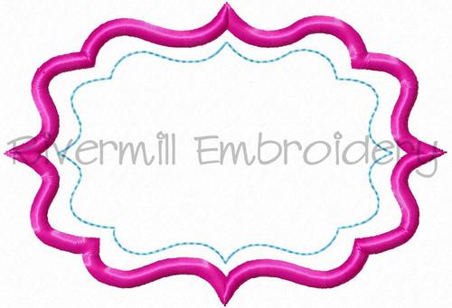 Applique Name or Monogram Frame Machine Embroidery Design (#9)