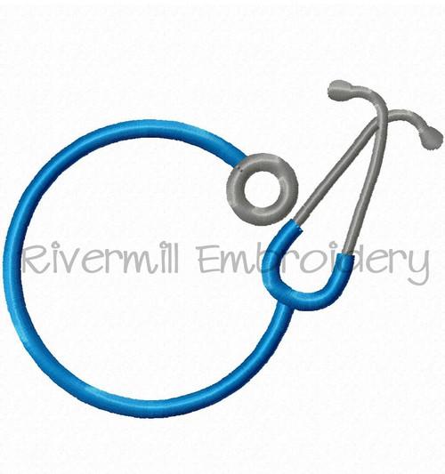 Stethoscope Monogram Frame Machine Embroidery Design