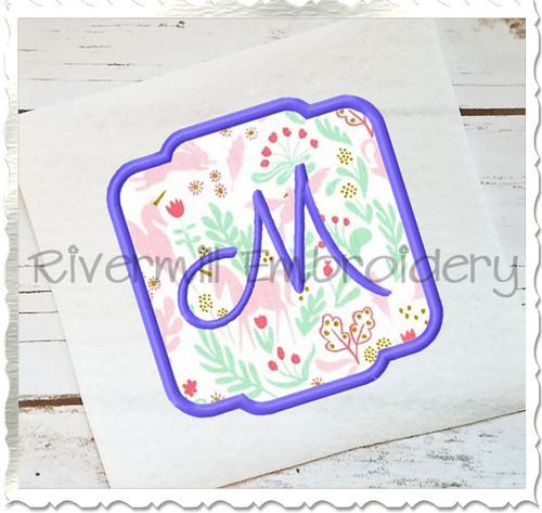 Applique Name or Monogram Frame Machine Embroidery Design (#10)