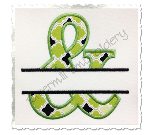 Split Applique Ampersand Machine Embroidery Design