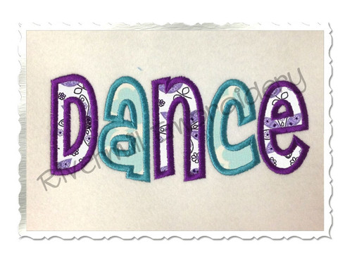 Applique Dance Machine Embroidery Design