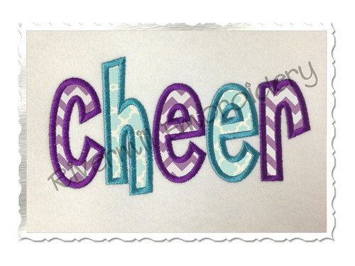 Applique Cheer Machine Embroidery Design