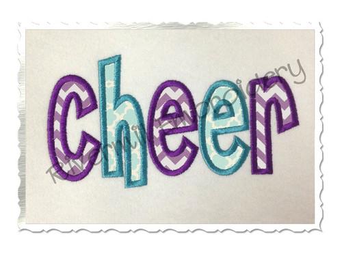 Applique Cheer Machine Embroidery Design
