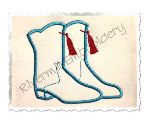 Applique Drill Team Boots Machine Embroidery Design