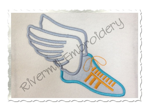 Applique Track Shoe Machine Embroidery Design