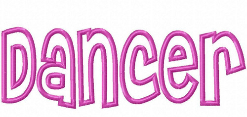 Applique Dancer Machine Embroidery Design