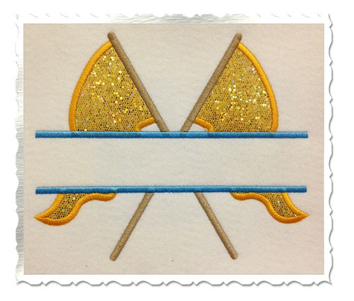 Applique Split Color Guard Flags Machine Embroidery Design