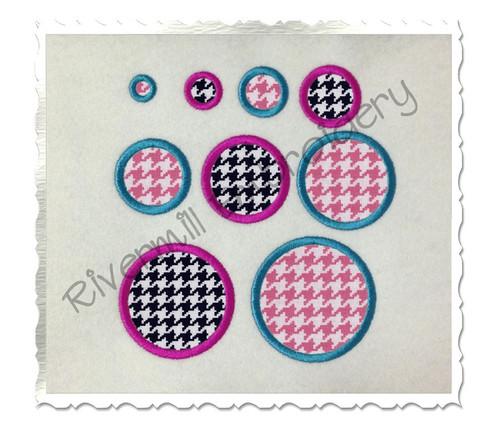 Individual Applique Polka Dots Machine Embroidery Design
