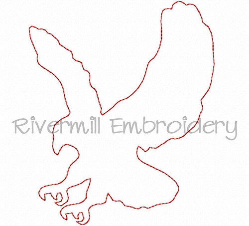Raggy Applique Eagle Machine Embroidery Design