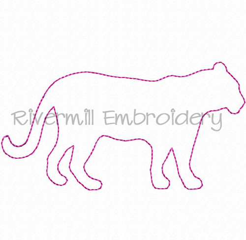 Raggy Applique Tiger Machine Embroidery Design