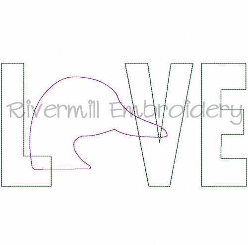 Raggy Applique Duck Love Machine Embroidery Design