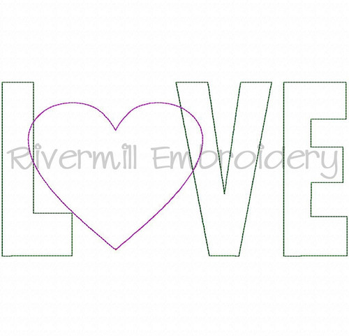 Raggy Applique Love With A Heart Machine Embroidery Design