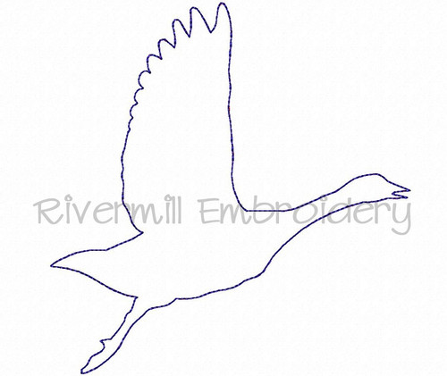 Raggy Applique Goose Machine Embroidery Design