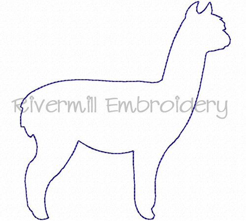 Raggy Applique Alpaca Machine Embroidery Design