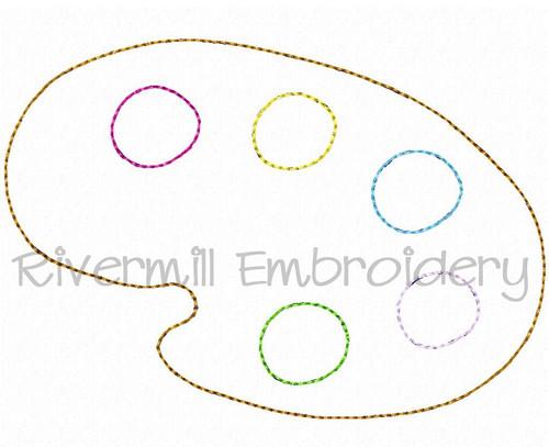 Raggy Applique Artist Palette Machine Embroidery Design
