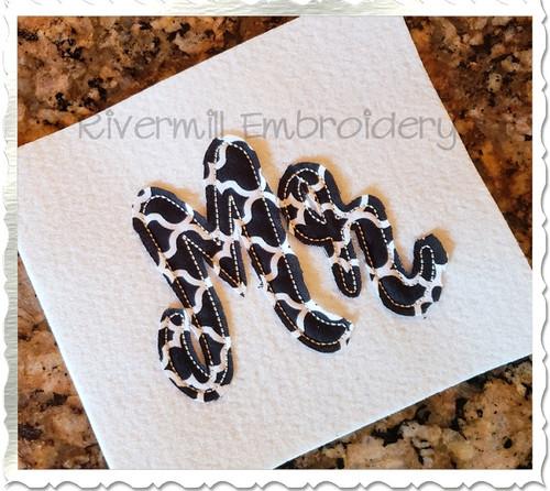 Raggy Applique Mr Machine Embroidery Design