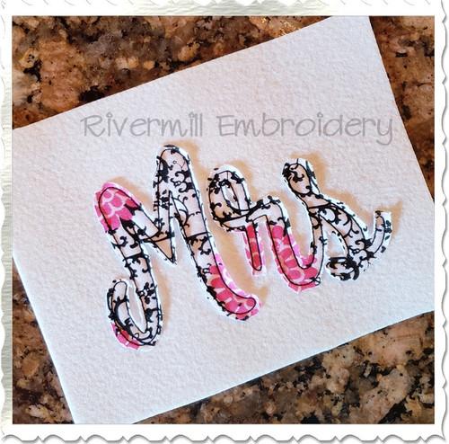 Raggy Applique Mrs Machine Embroidery Design