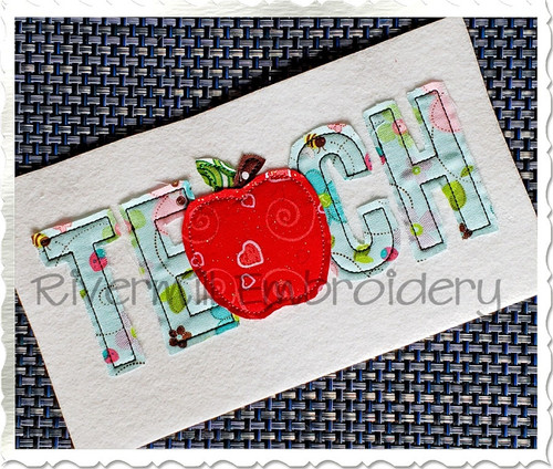 Raggy Applique Teach Machine Embroidery Design
