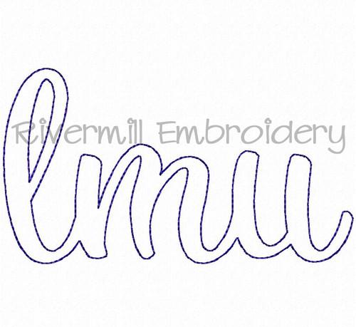 Raggy Applique LMU Machine Embroidery Design