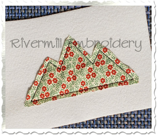 Mountains Raggy Applique Machine Embroidery Design