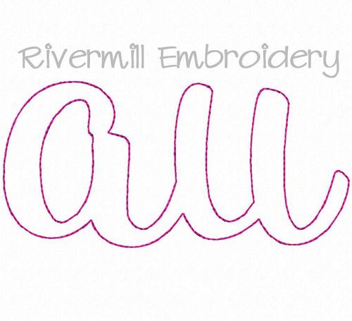 Raggy Applique AU Machine Embroidery Design