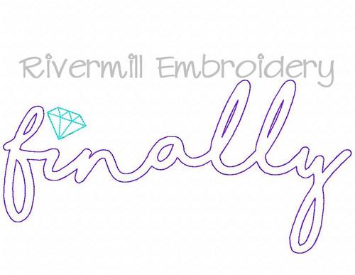 Raggy Applique Finally Engagement Wedding Machine Embroidery Design