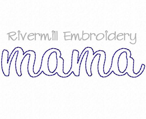 Raggy Applique Mama Machine Embroidery Design
