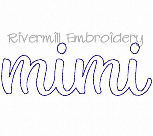 Raggy Applique Mimi Machine Embroidery Design