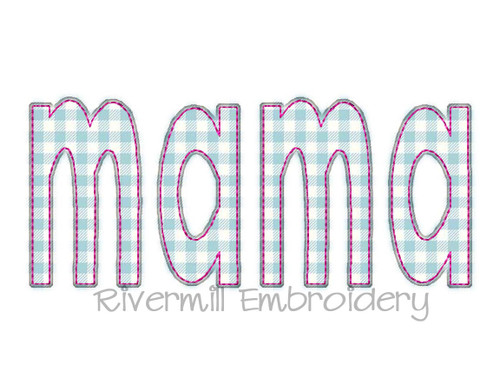 Raggy Applique Mama Machine Embroidery Design (Style 2)