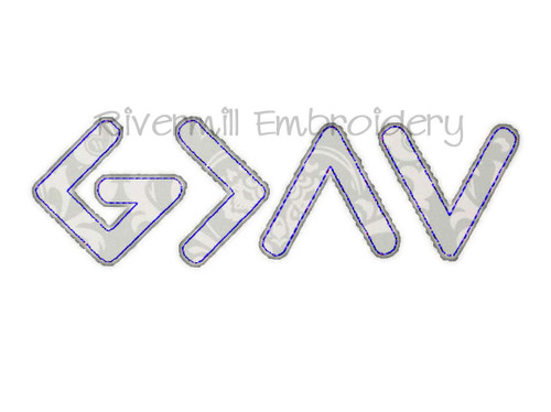 Raggy Applique God is Greater Than The Highs and Lows Machine Embroidery Design