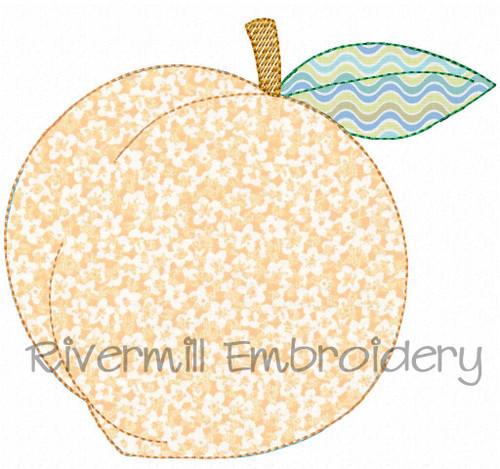 Raggy Applique Peach Machine Embroidery Design