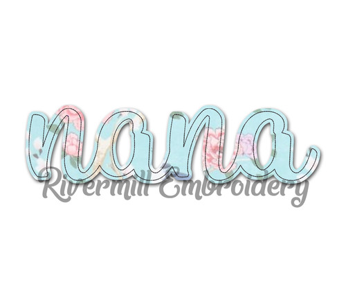 Raggy Applique Nana Machine Embroidery Design