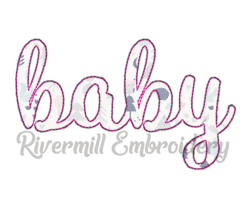 Raggy Applique Baby Machine Embroidery Design