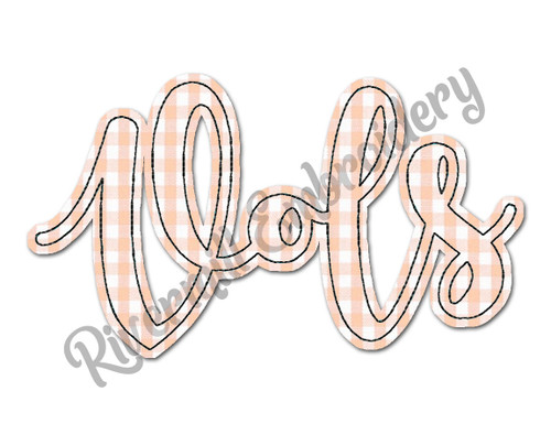 Raggy Applique Script Vols Machine Embroidery Design