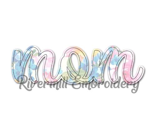 Raggy Applique Mom Machine Embroidery Design