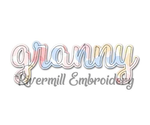 Raggy Applique Granny Machine Embroidery Design