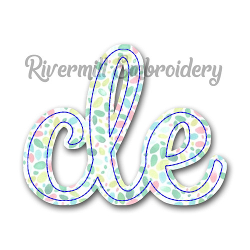 "Raggy Applique ""cle"" Cleveland Ohio Machine Embroidery Design"