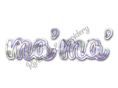 Raggy Applique Ma'Ma' Machine Embroidery Design