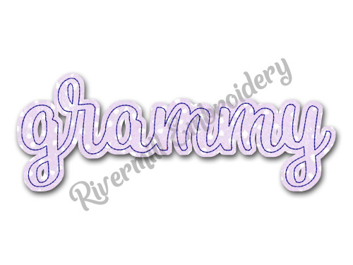 Raggy Applique Grammy Machine Embroidery Design