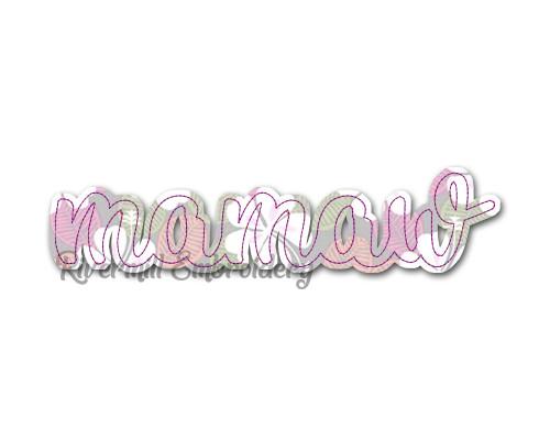 Raggy Applique Mamaw Machine Embroidery Design