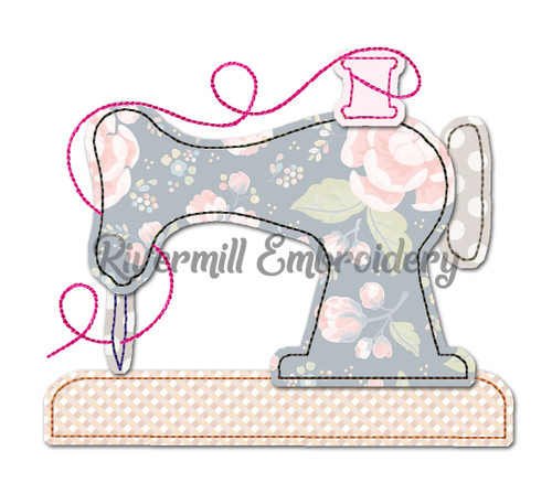 Raggy Applique Sewing Machine Embroidery Design
