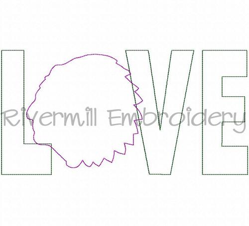 Raggy Applique Warrior Love Machine Embroidery Design