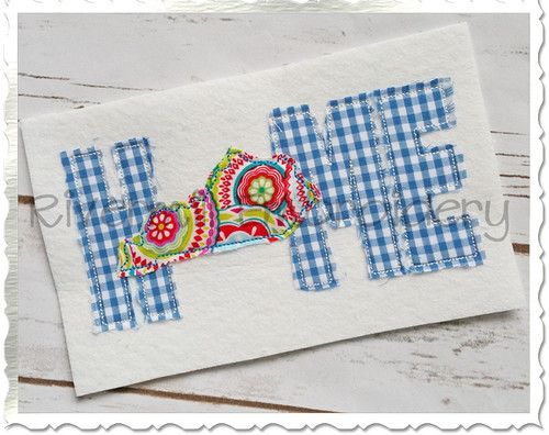 Raggy Applique Kentucky Home Machine Embroidery Design