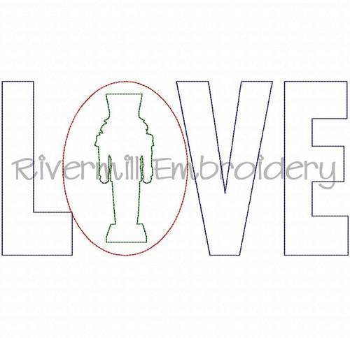 Raggy Applique Nutcracker Love Machine Embroidery Design
