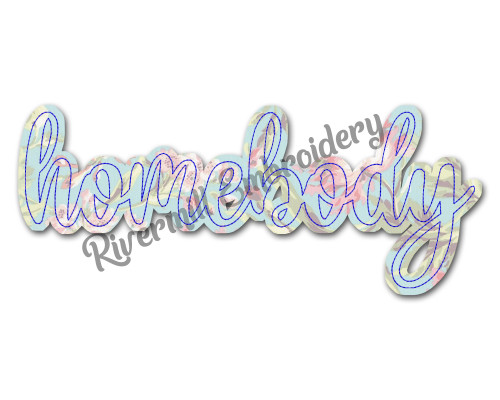 Raggy Applique Homebody Machine Embroidery Design