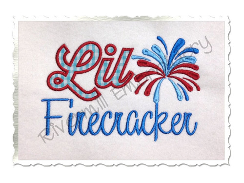 Applique Lil Firecracker Machine Embroidery Design